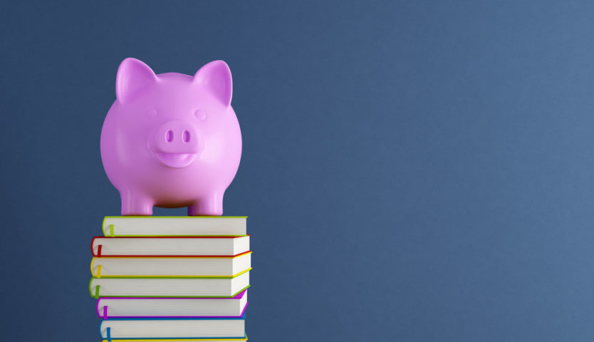 pink-piggy-bank-on-a-stack-of-books