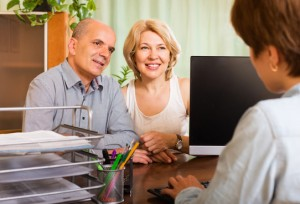 Older couple will planning with their accountant